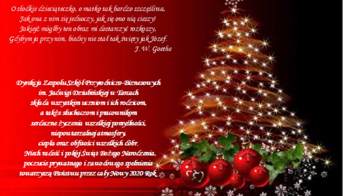 Życzenia świąteczne 2019